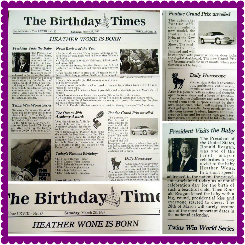 The Birthday Times On The Day You Were Born Review Miss