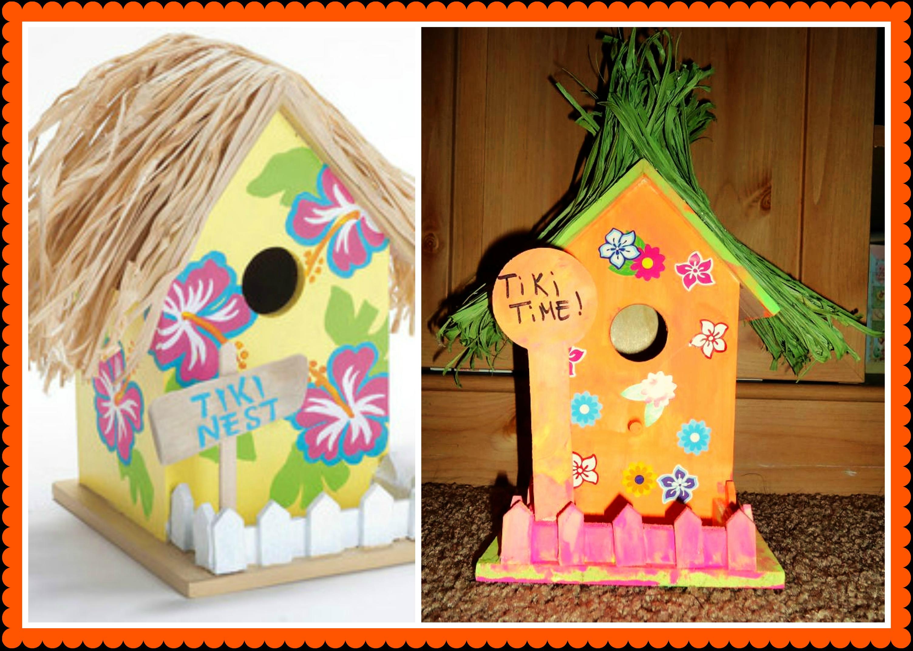 tiki birdhouse craft miss frugal mommy