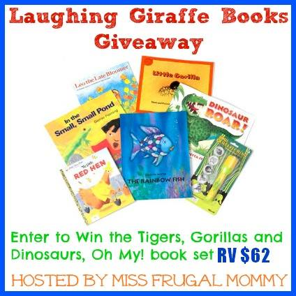 Enter to win the Laughing Giraffe book set. Ends 11/20.