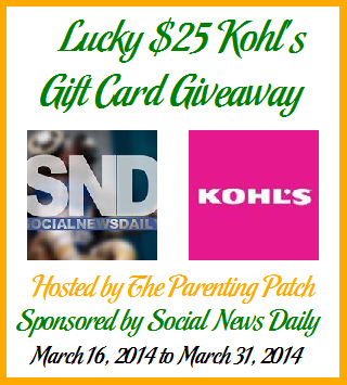 2014-03-16 Lucky $25 Kohl's Gift Card Giveaway (2)