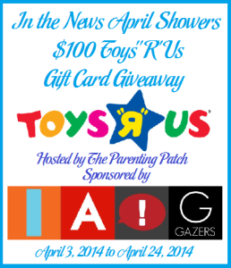 2014-04-03 In the News April Showers $100 ToysRUs Gift Card Giveaway (2)
