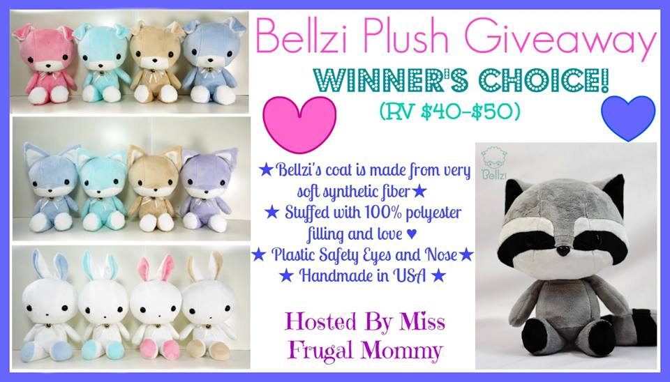 Enter the Bellzi Plush Giveaway. Ends 3/26.