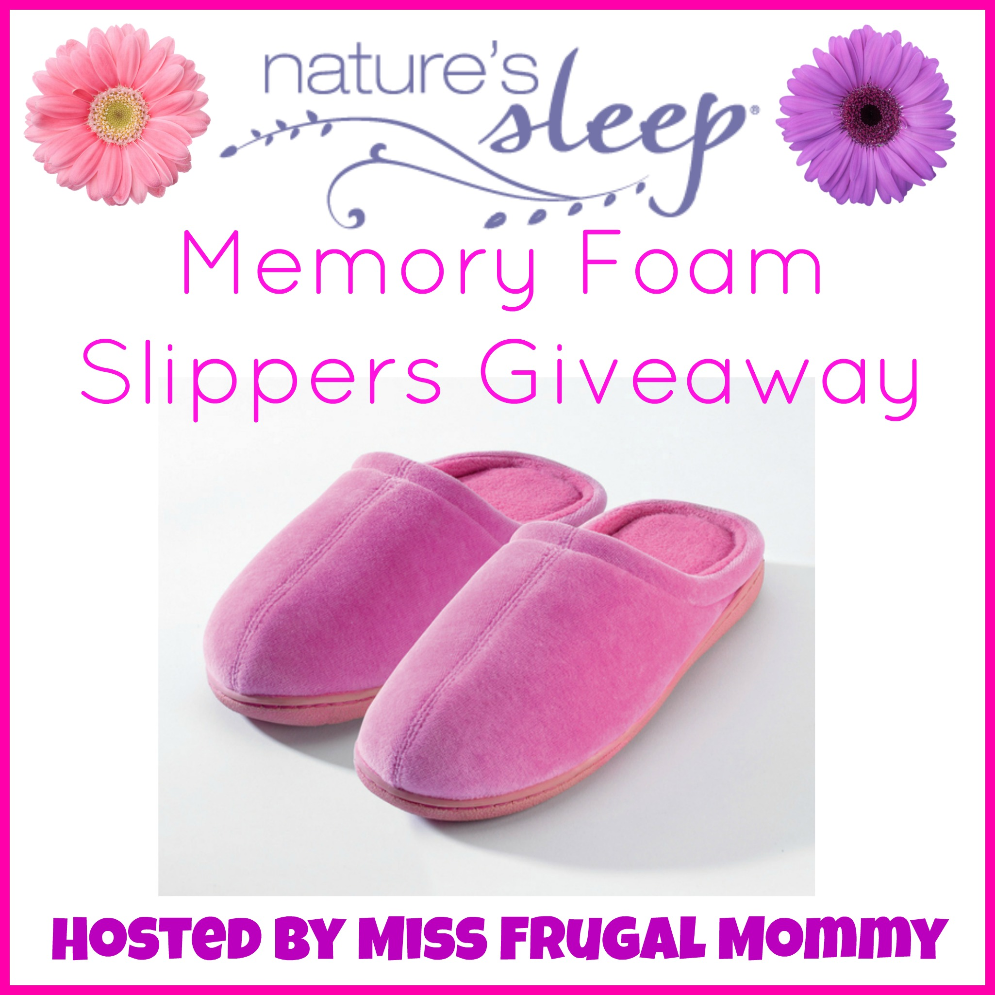Nature's Sleep Memory Foam Slippers Giveaway