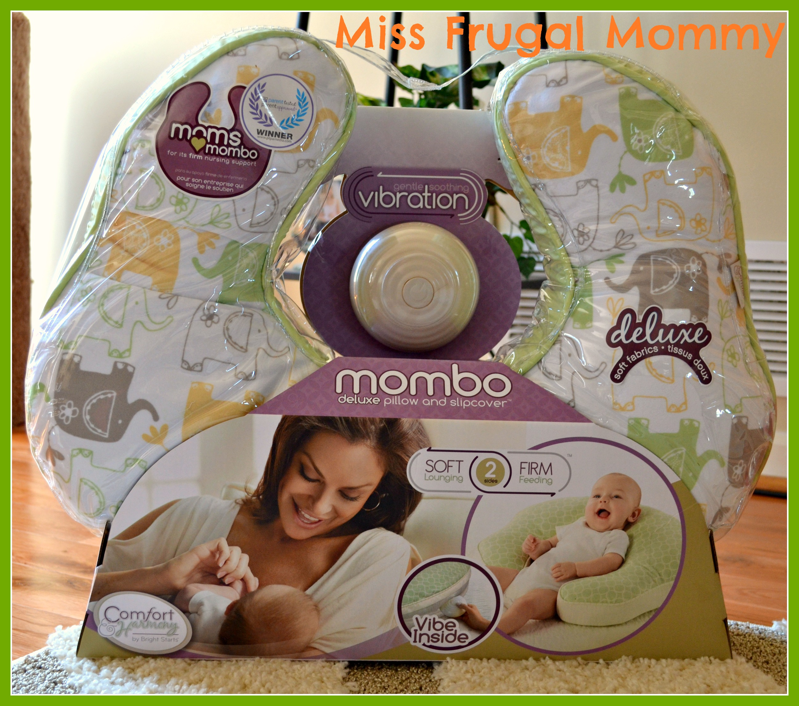 mombo Enchanting Elephants Deluxe Nursing Pillow (Getting Ready For Baby Gift Guide)