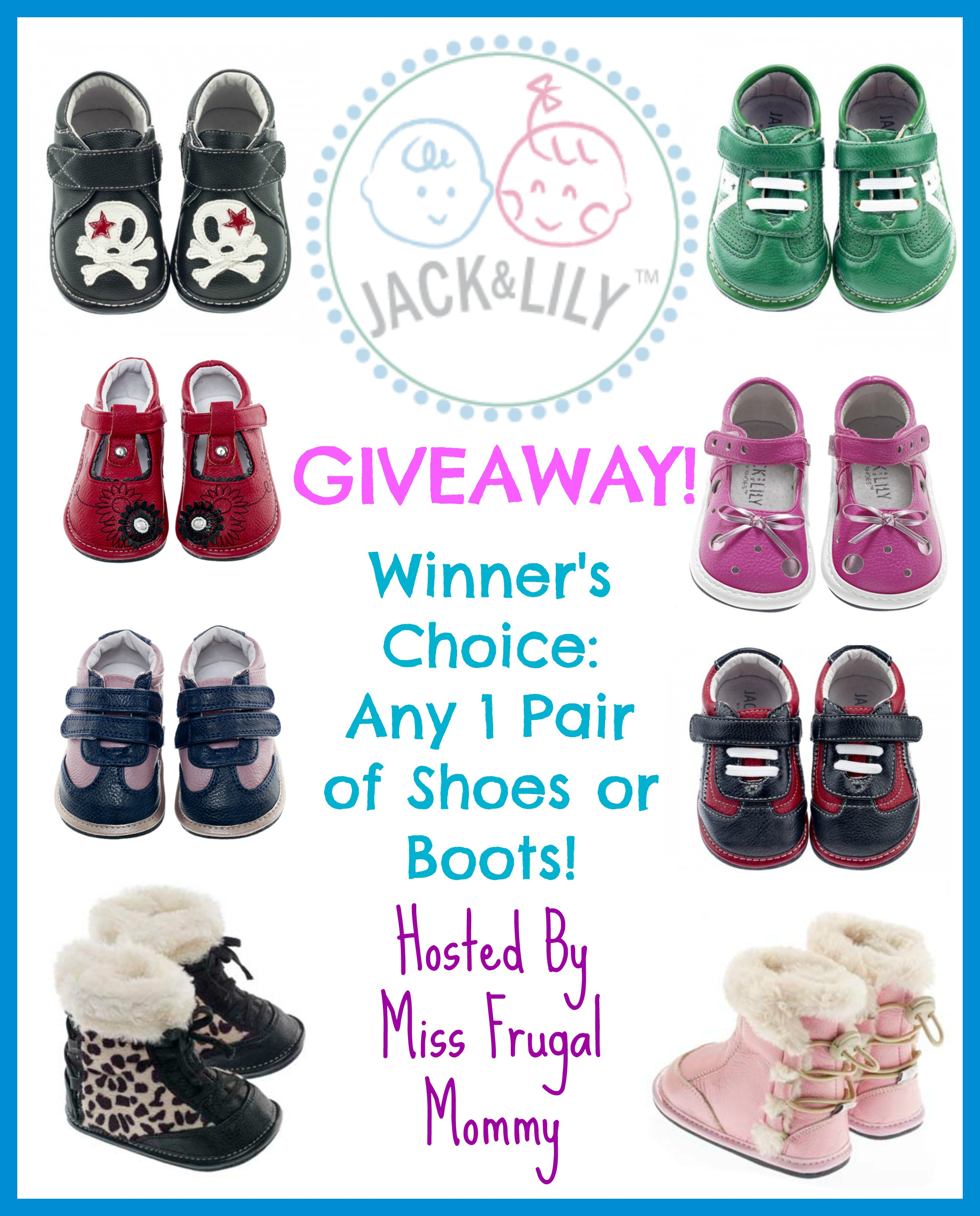 Jack & Lily Shoes Winner's Choice Giveaway ends 4/29