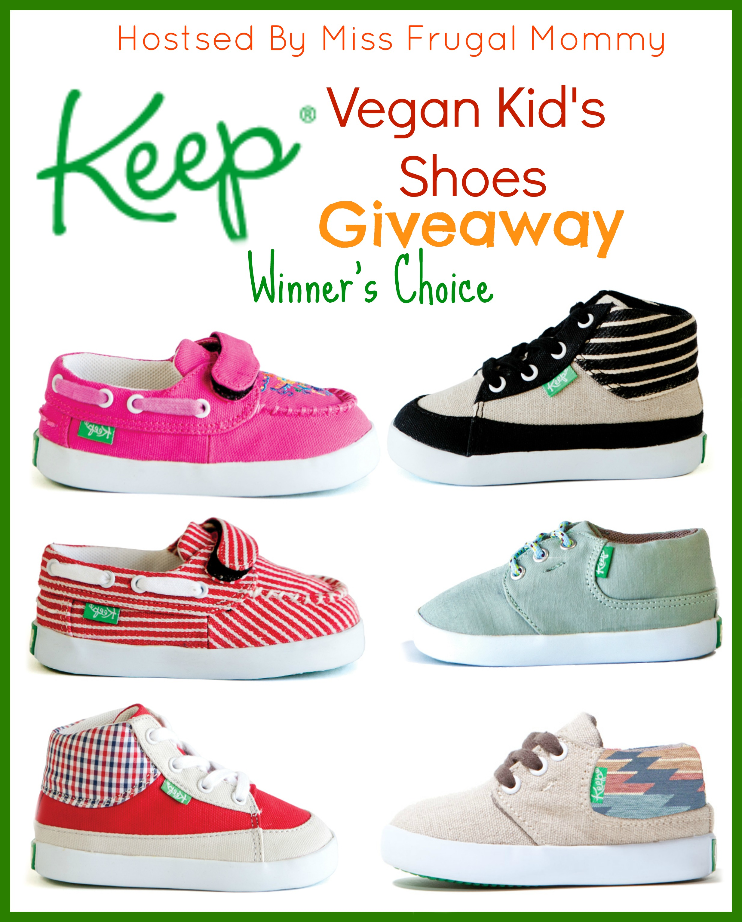 Keep Vegan Kid's Shoes Giveaway ~ Ends 5/8