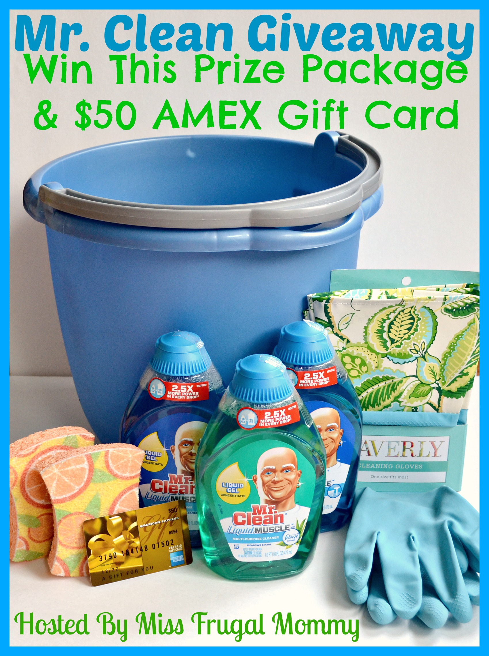 Mr. Clean's Prize Package & $50 AMEX Gift Card Giveaway Ends 5/11