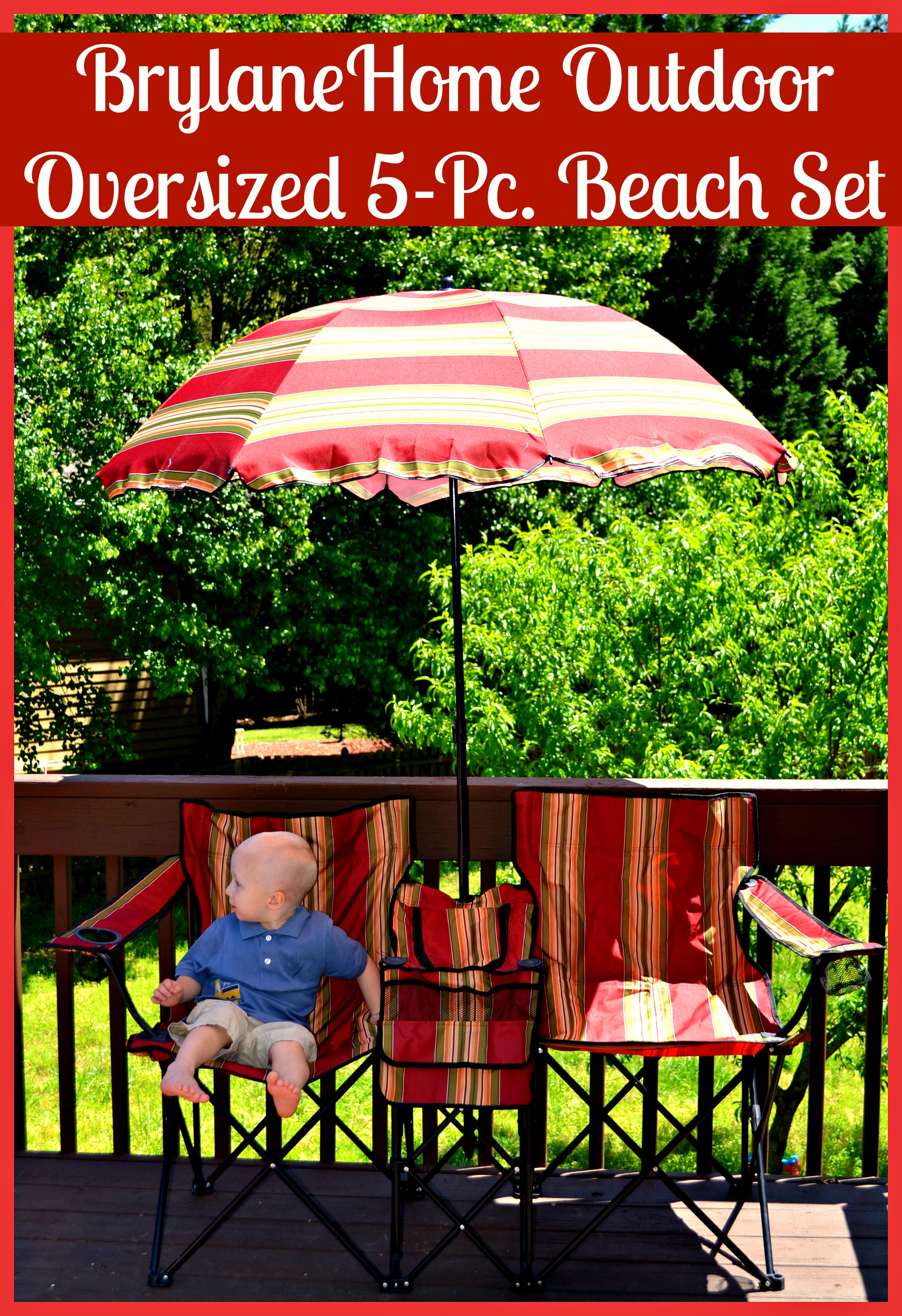 BrylaneHome Outdoor Oversized 5-Pc. Beach Set Review