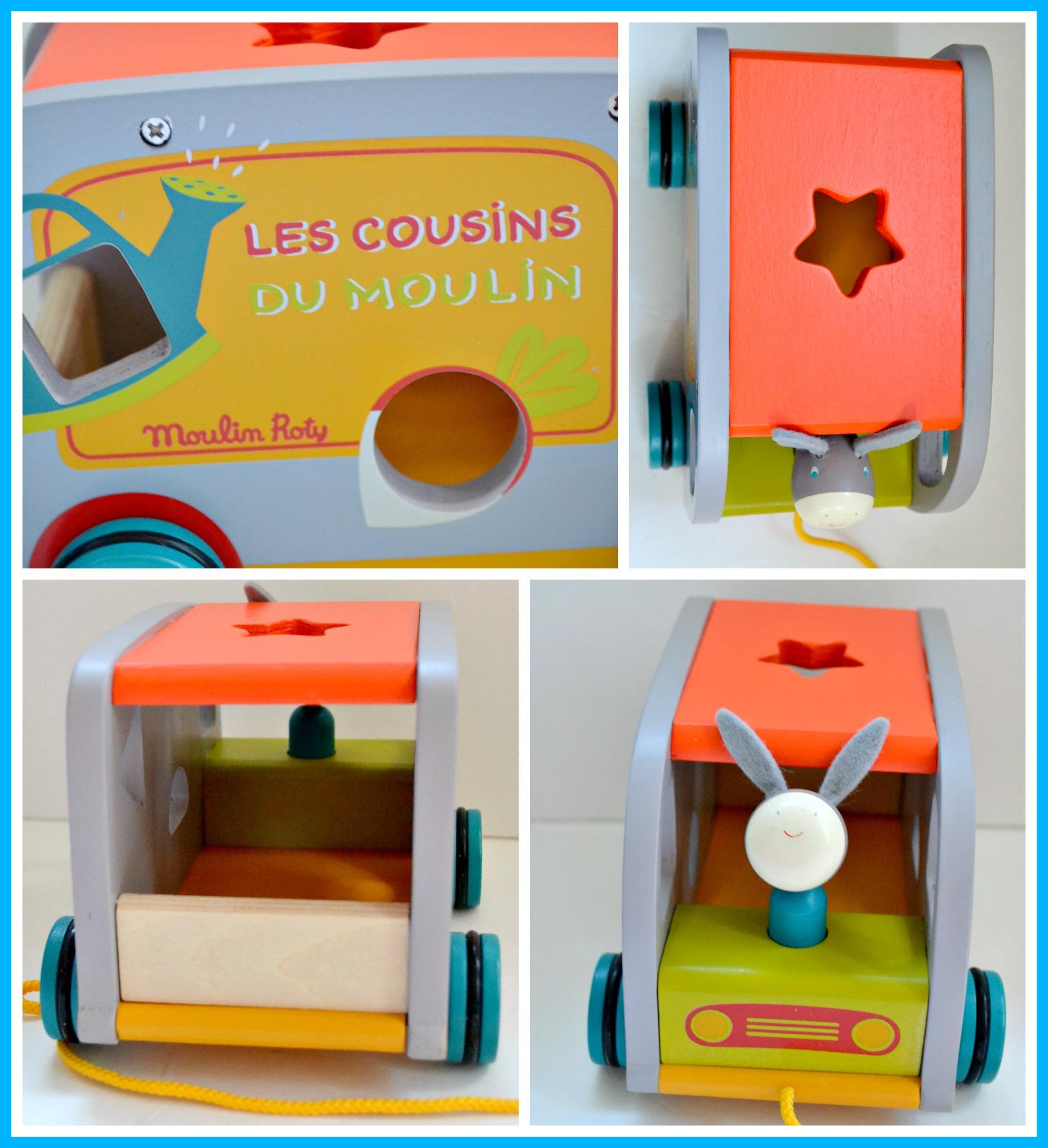 Les Cousins du Moulin: Pull Along Shape Sorting Garden Truck Review