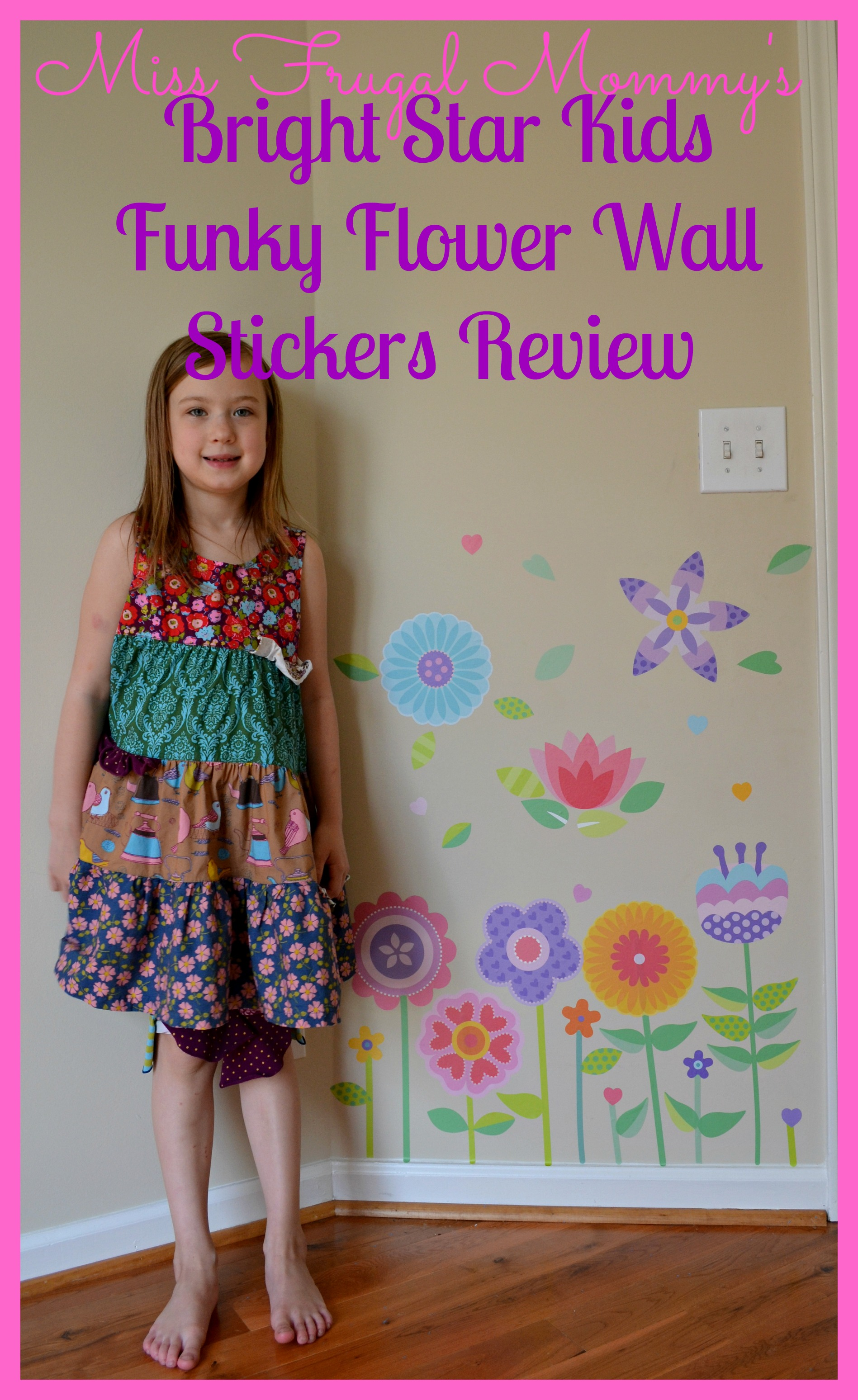 Bright Star Kids: Funky Flower Wall Stickers Review
