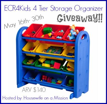 ECR4Kids Storage Organizer Giveaway