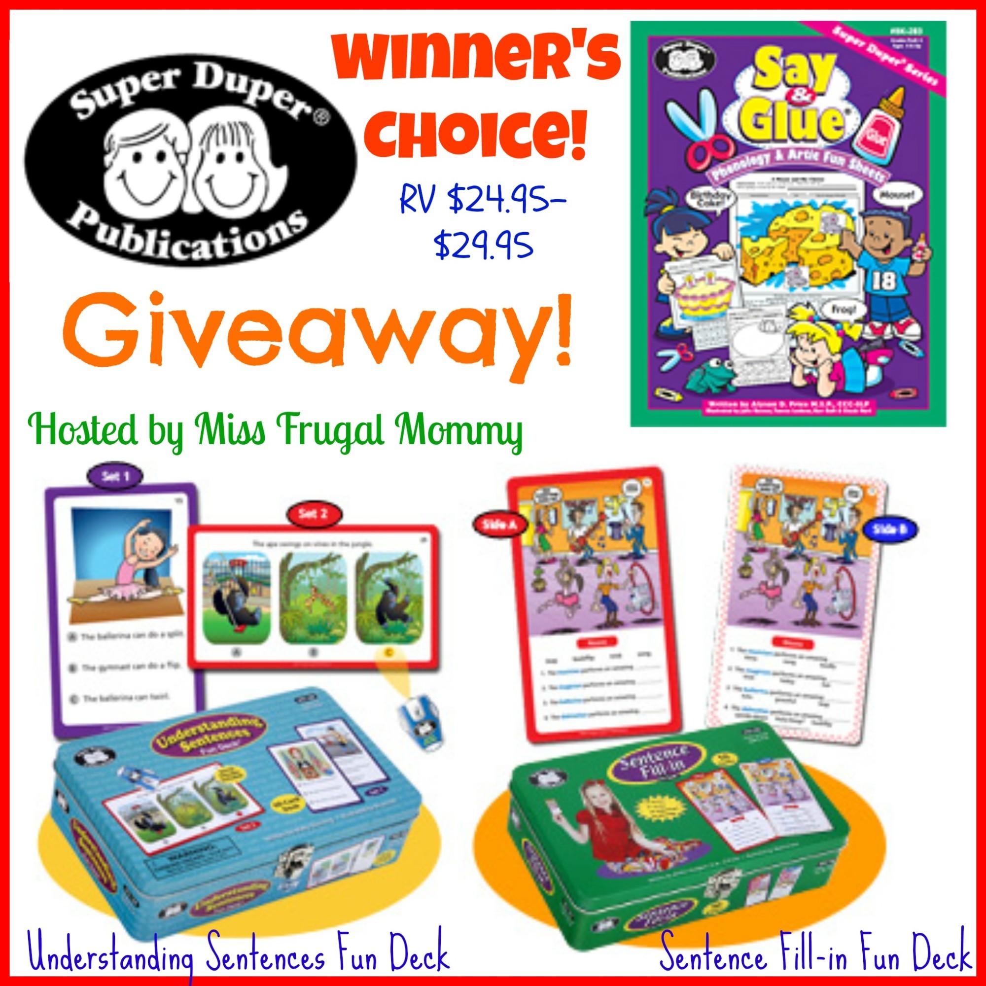 Super Duper Publications Giveaway