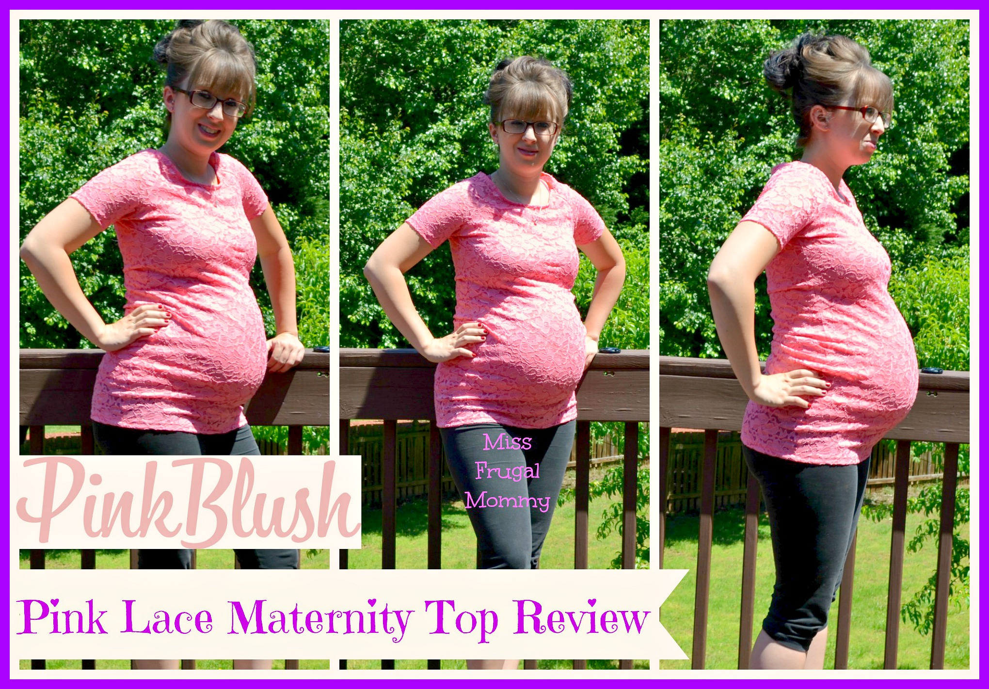 PinkBlush Pink Lace Fitted Maternity Top Review (Getting Ready For ...