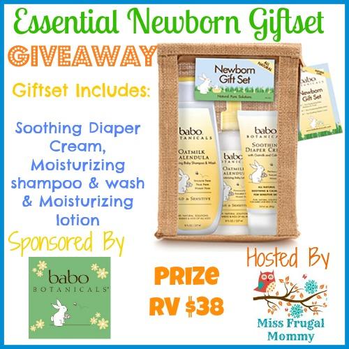 Babo Botanicals Essential Newborn Giftset