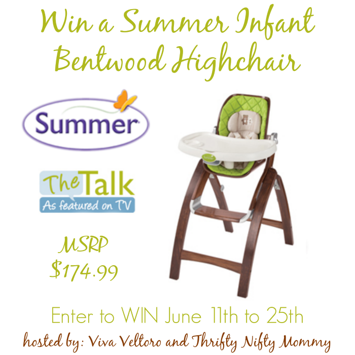 Summer Infant Bentwood Highchair Giveaway