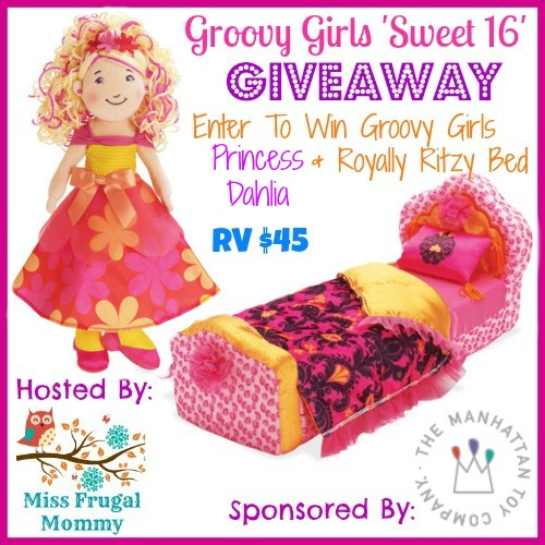 Groovy Girls Princess Dahlia & Royally Ritzy Bed Giveaway