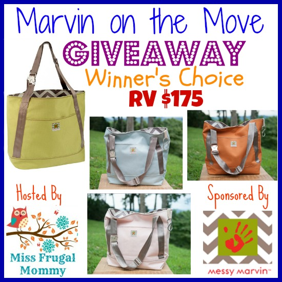 Enter the Marvin On The Move Tote Giveaway (Winner's Choice). Ends 6/21.
