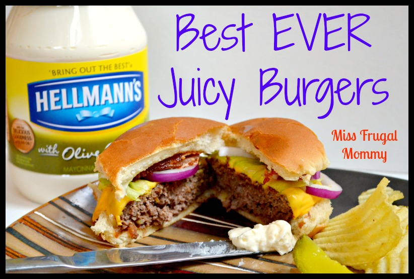 Best EVER Juicy Burgers: Perfect For Your 4th of July BBQ