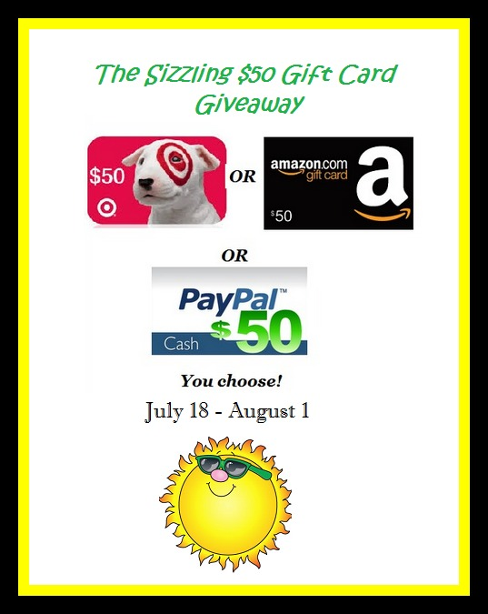 The Sizzling $50 Gift Card Giveaway