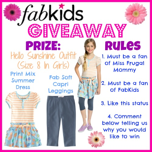 *Flash Giveaway* FabKids Hello Sunshing Outfit