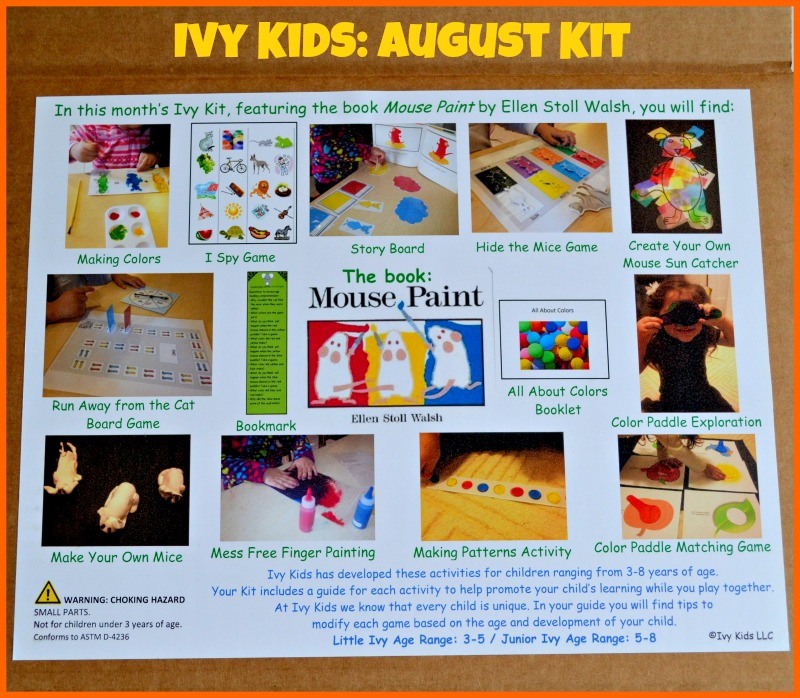 Ivy Kids: A Monthly Educational Subscription Box For Children (August Kit)