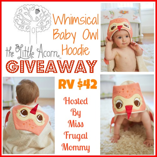 Enter to #win The Little Acorn: Owl Bath Wrap #Giveaway, Ends 7/19