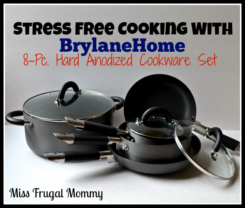 Stress Free Cooking With BrylaneHome 8-Pc. Hard Anodized Cookware Set