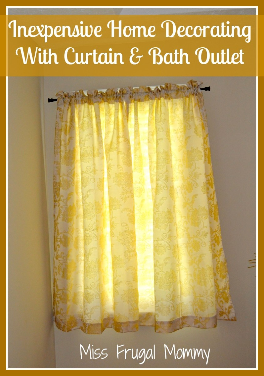 Inexpensive Home Decorating With Curtain & Bath Outlet