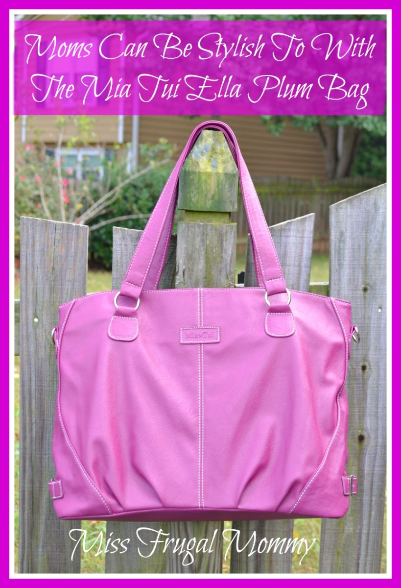 Moms Can Be Stylish Too With The Mia Tui Ella Plum Bag