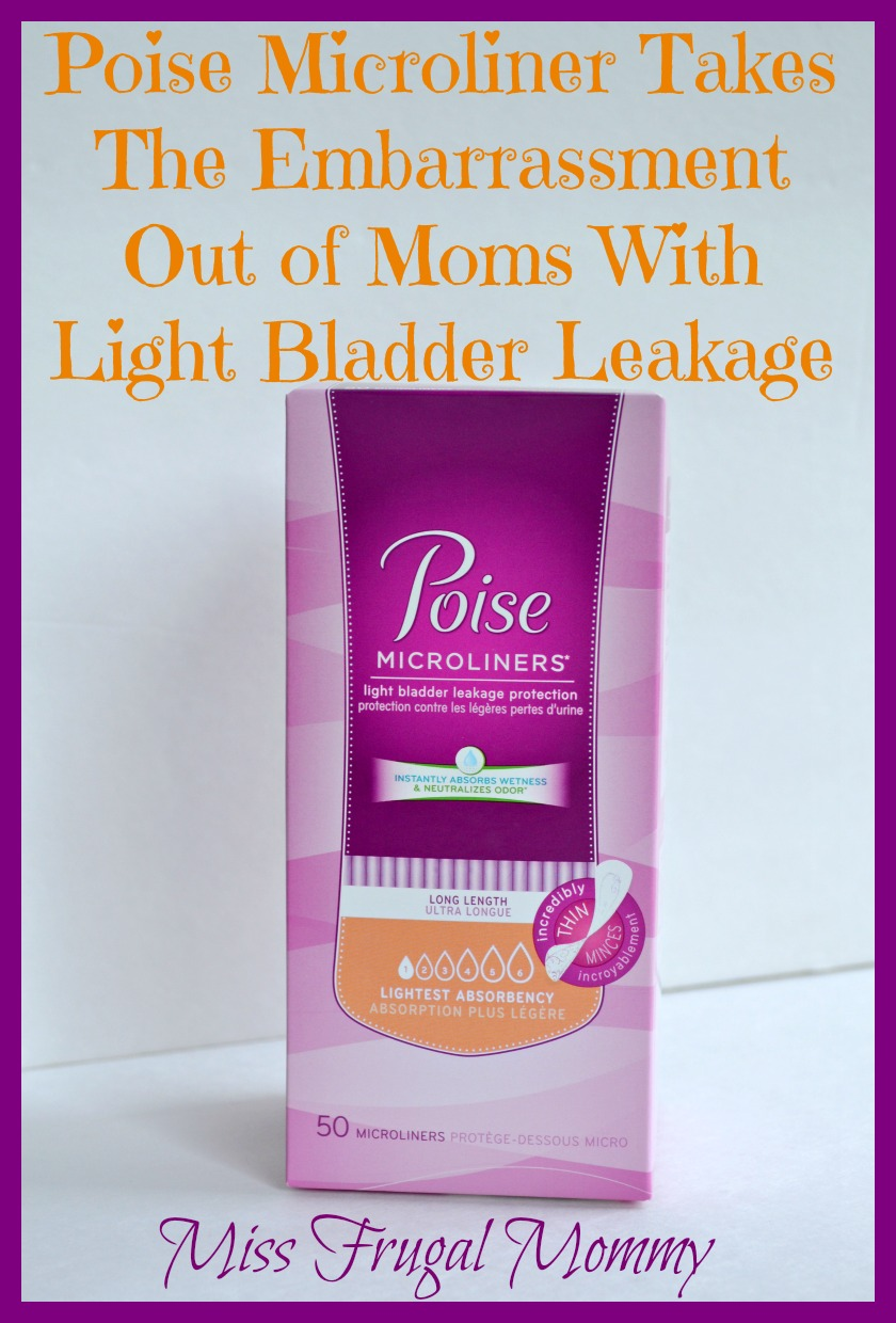 Poise Microliner Takes The Embarrassment Out of Moms With Light Bladder Leakage