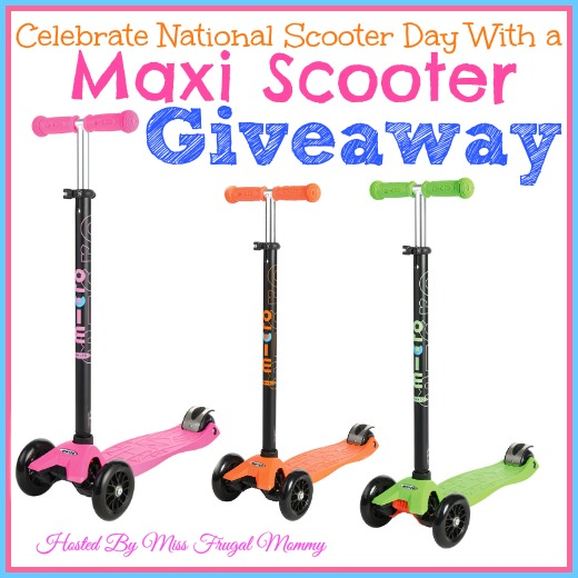 Celebrate National Scooter Day With a Maxi Scooter Giveaway #ScooterDay