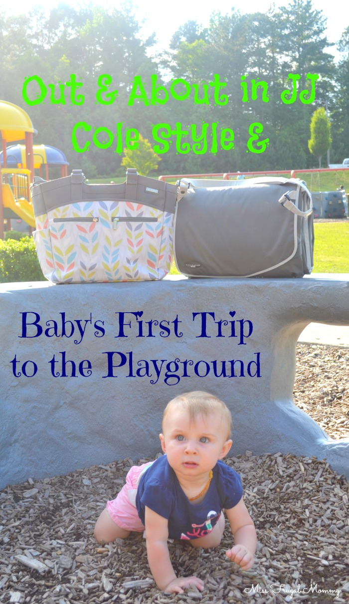 Out & About in JJ Cole Style & Baby's First Trip to the Playground