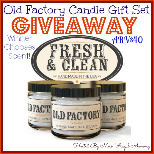 Enter To Win A Old Factory Candles Gift Set