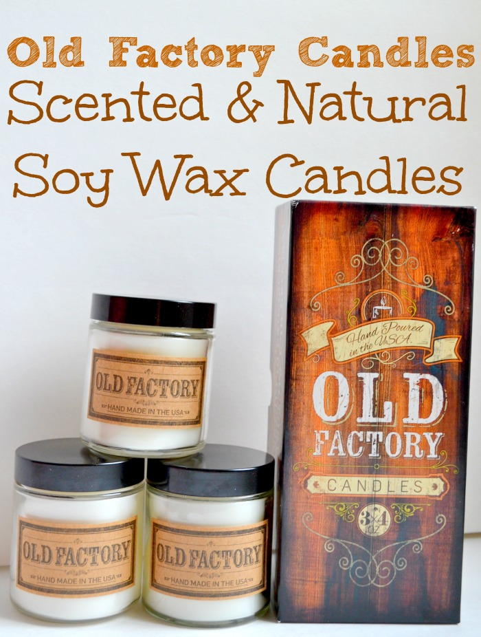 Old Factory Candles: Scented & Natural Soy Wax Candles