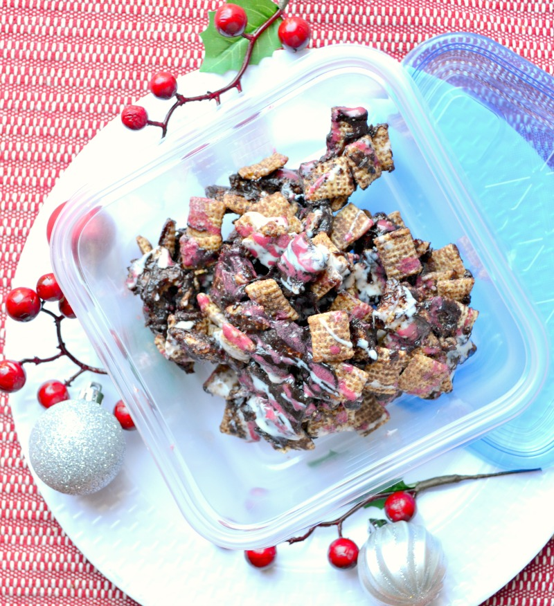 Easy Holiday Party Treat: Red Velvet Chex Party Mix