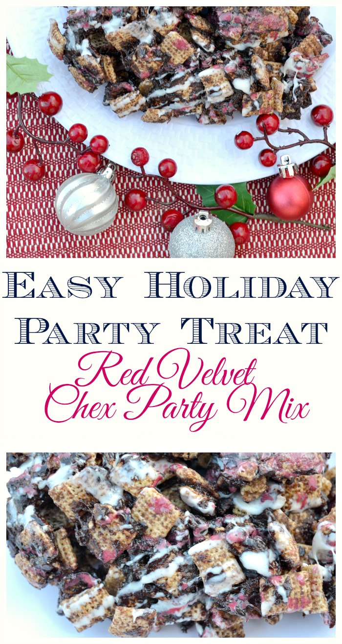 Easy Holiday Party Treat: Red Velvet Chex® Party Mix