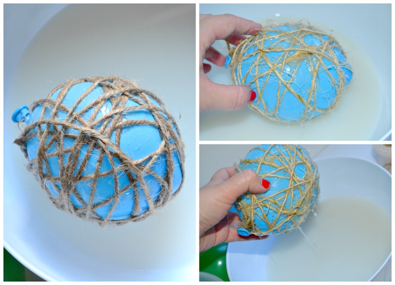 DIY Twine Ball Ornaments & Unlimited Holiday Music!