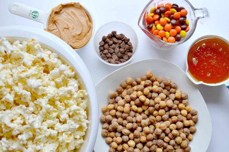 Peanut Butter & Chocolate Popcorn Crunch Mix