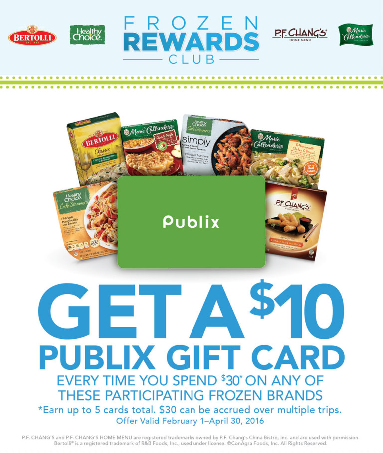 Frozen Rewards Club: Earn Up To $50 In Publix Gift Cards