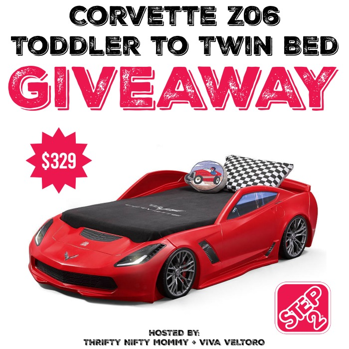 Step2 Corvette Z06 Toddler To Twin Bed Giveaway