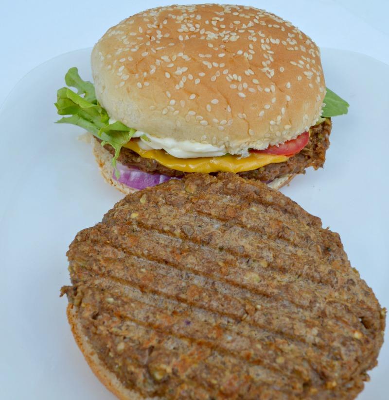 Vegan Spicy Lentil Walnut Burgers - Miss Frugal Mommy