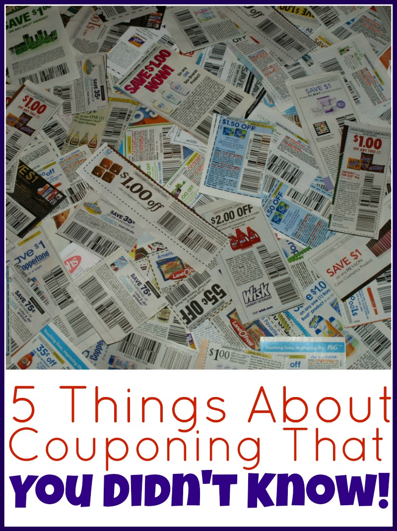 5 Things About Couponing That You Didn't Know!
