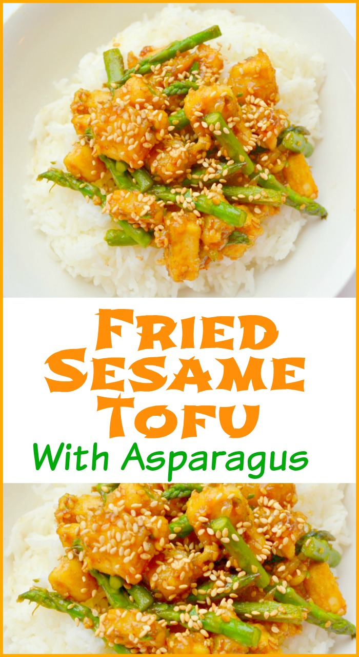 Fried Sesame Tofu With Asparagus – Miss Frugal Mommy