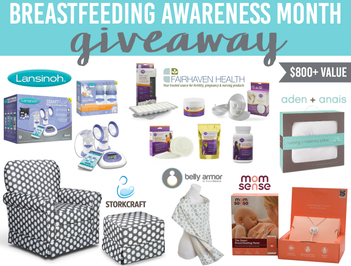 Breastfeeding Awareness Month Giveaway: $800+ Value!