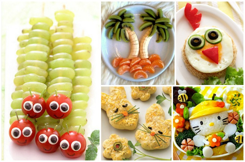 Food decoration ways to make your kids eat healthy food miss frugal mommy - Deco snack ...