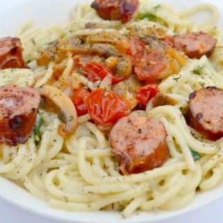 Creamy Pasta With Smoked Sausage