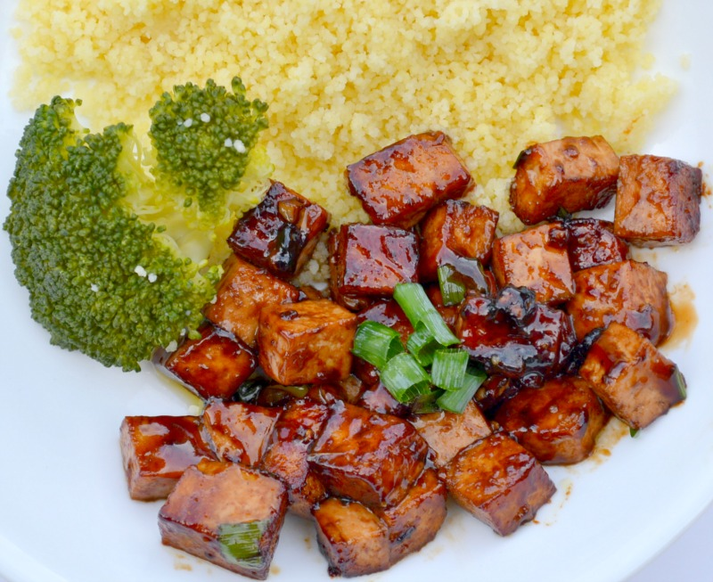 Delicious Vegan Asian Garlic Tofu Miss Frugal Mommy