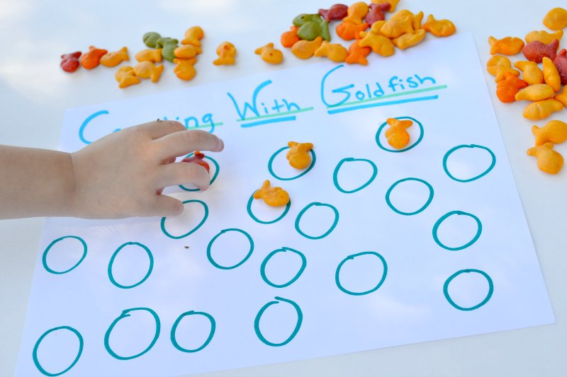 Learning How To Count With Goldfish Crackers
