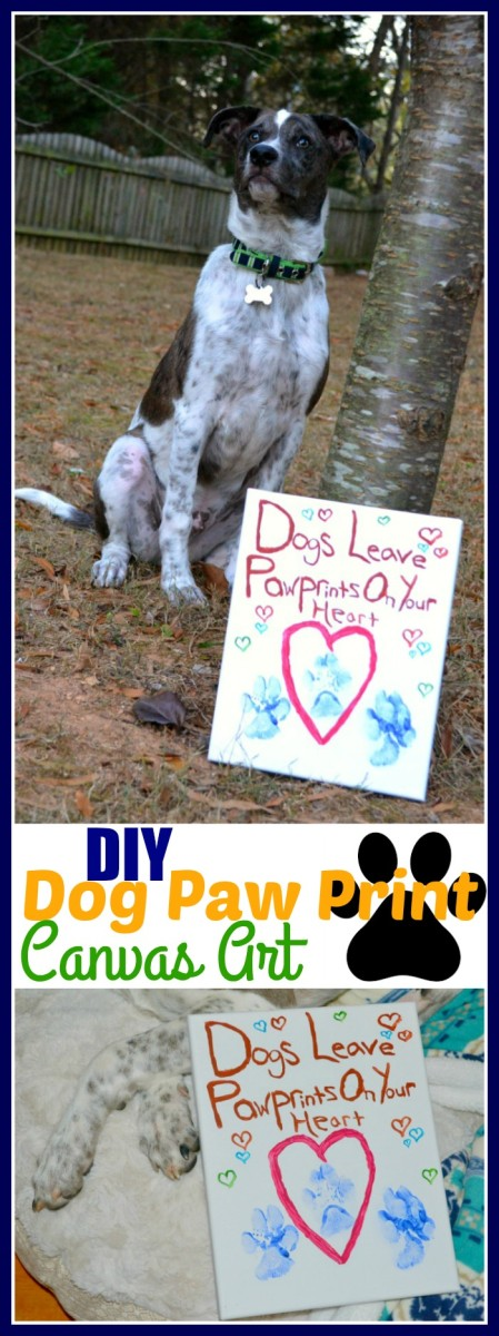 DIY Dog Paw Print Canvas Art