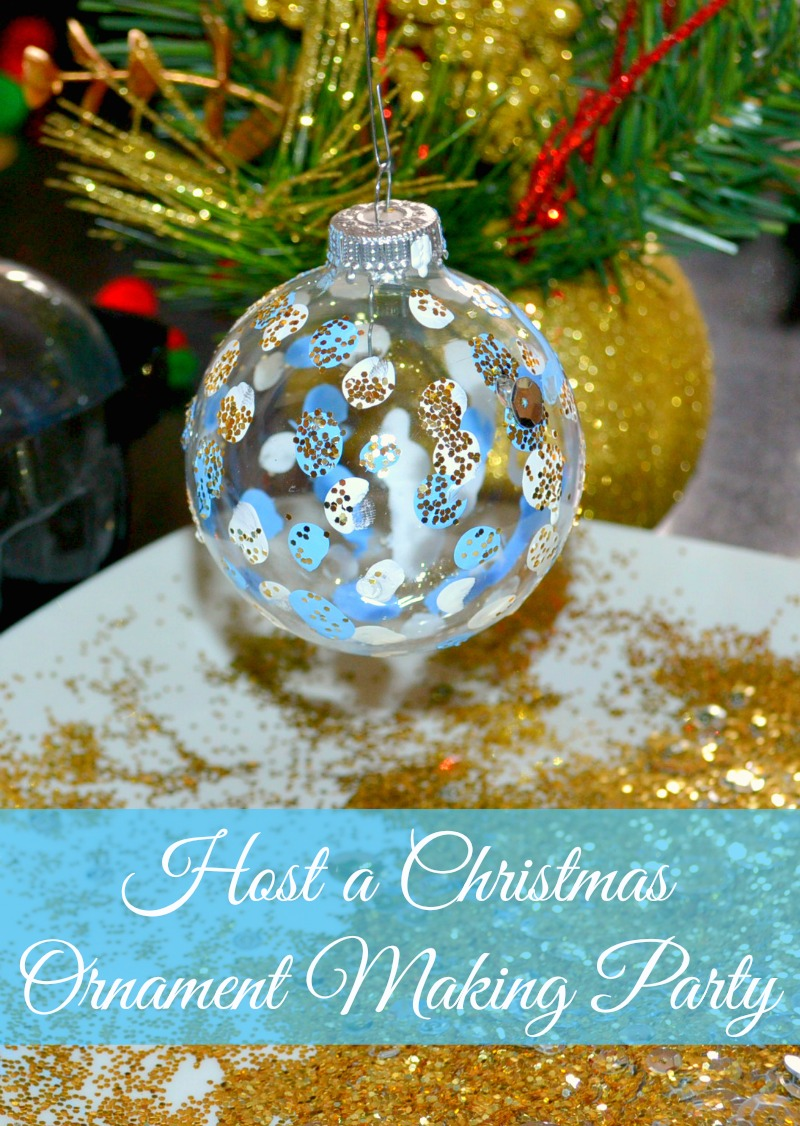 Host a Christmas Ornament Making Party